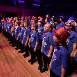 The Junior choirs sing songs from Willy Wonka